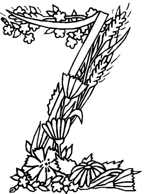 Free Colouring Pages Letters