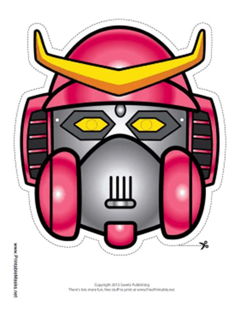 printable robot mask printable robot with horns mask mask