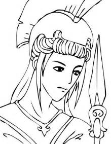 Athena Greek Goddess Coloring Pages Sketch Page sketch template