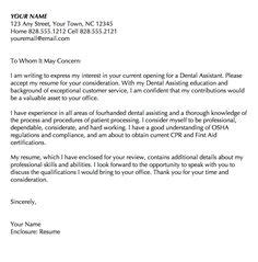 cover letter pediatric dentist 1000 images about dental cover letters on