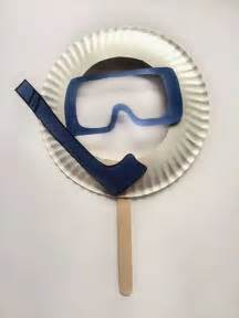 Paper Plate Mask Craft - paper plat scuba mask for paper plate crafts