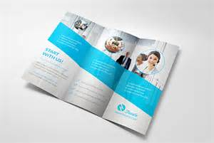 3 folded brochure template trustx corporate tri fold brochure template 3 25 really