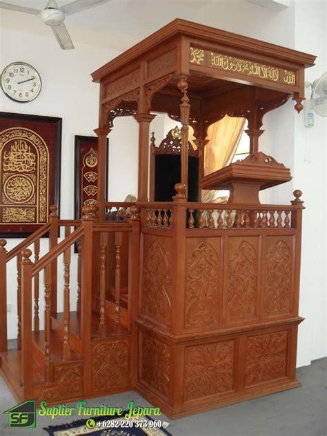 Mimbar Jati Untuk Masjid mimbar masjid ukir jati mimbar masjid jepara mimbar