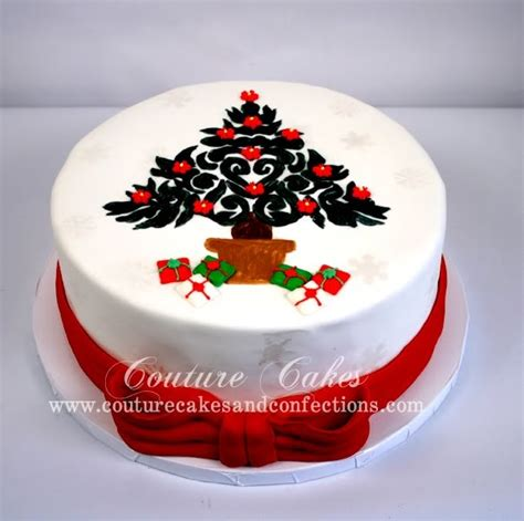 easy classy christmas tree from fondant couture cakes confections painted tree cake