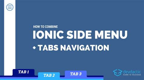 ionic gps tutorial how to combine ionic side menu and tabs navigation devdactic