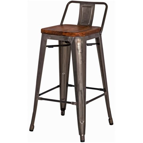 Metropolis Low Back Counter Stool by Metropolis Low Back Counter Stool Sagamore Bay