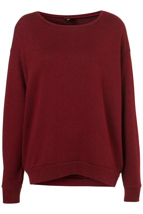 D030651 Sweater Basic One topshop basic curve hem sweater in purple lyst