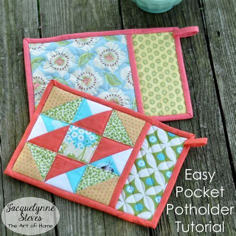 Patchwork Gifts Free Patterns - easy pocket potholder tutorial by jacquelynnesteves craftsy
