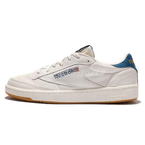 reebok retro sneakers reebok club c 85 retro gum beige navy mens casual shoes