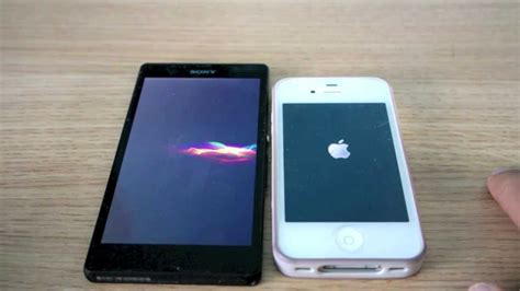 boot test sony xperia z vs iphone 4s