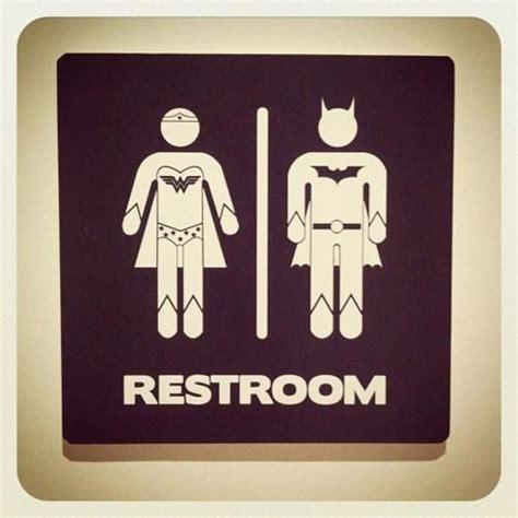 superhero bathroom signs pinterest the world s catalog of ideas