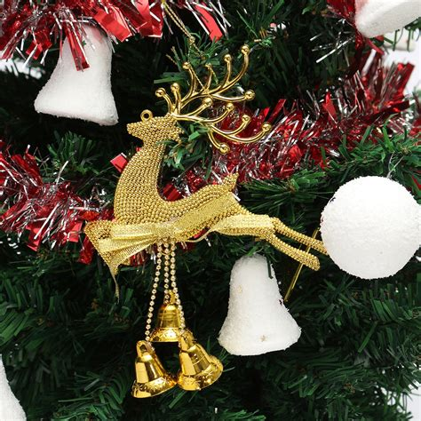 christmas tree reindeer elk deer bell ornament pendant