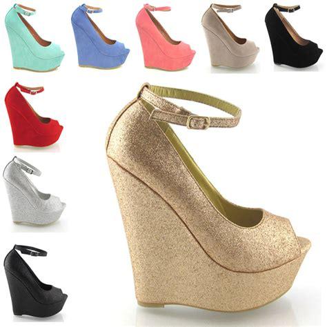 high heel platform womens peep toe ankle