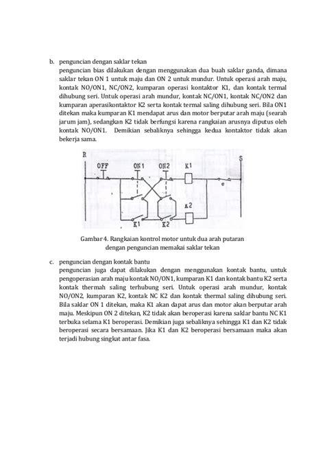 Saklar Ganda 8 Rangkaian Dasar Kontrol Motor Listrik
