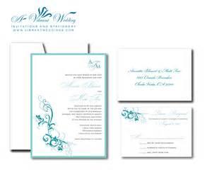 turquoise wedding invitation a vibrant wedding