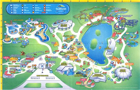 seaworld texas map seaworld of texas 2008 park map