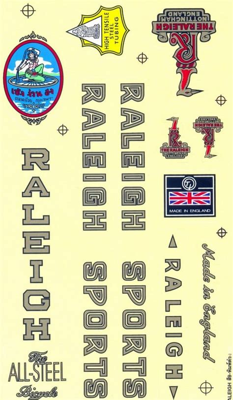 Sticker Vintage Bike by Decal Bicycle Vintage Bike Part Raleigh Sticker Cycling