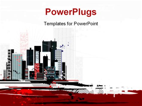 powerpoint templates urban design urban scene with many different shapes vector powerpoint