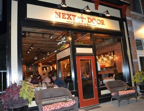 outside at picture of next door kitchen and bar
