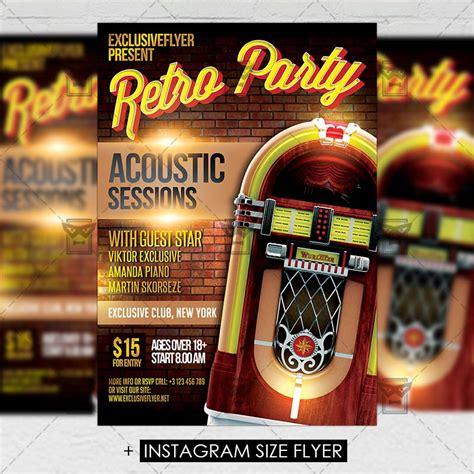 retro flyer templates retro premium a5 flyer template exclsiveflyer