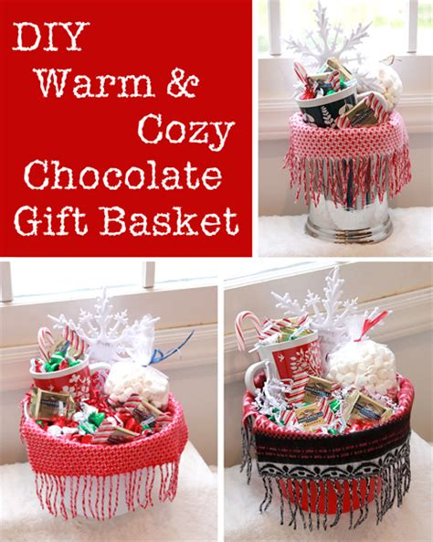 warm cozy chocolate gift basket diy gift link party