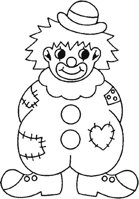 Clown Coloring Pages Coloring Picture Of A Badly Clown Coloring Page