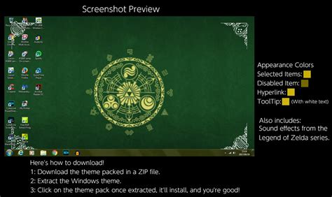 themes in the book legend the legend of zelda windows 7 theme by thewolfbunny on