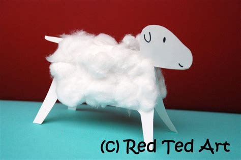 sheep crafts for crafts cotton wool lambs ted s