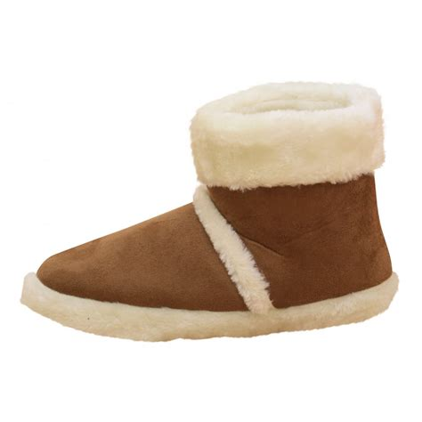 warm slippers dunlop mens microsuede ankle boots slippers warm