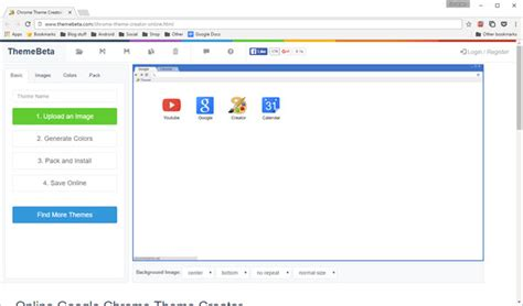 themes google chrome themebeta create your own google chrome theme