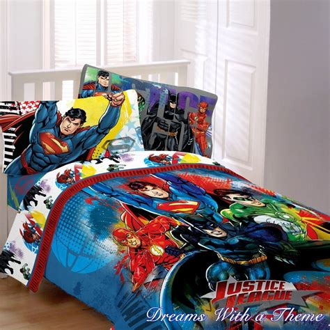 justice bedding justice league dc comic heros superman batman twin single