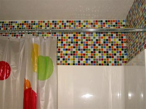 Colored Shower by Bathroom Tiling A Shower Wall Color Tiling A Shower