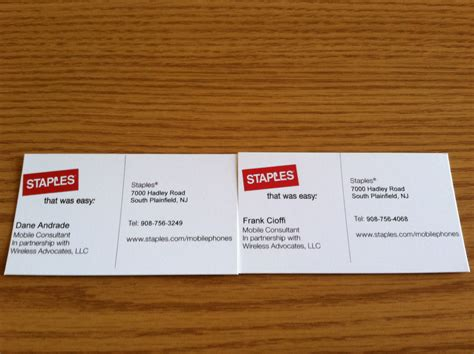 does staples make business cards staples print business cards sxmrhino