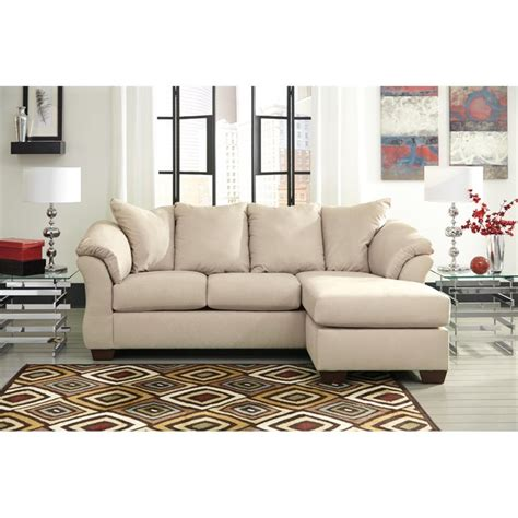 ashley furniture darcy sectional ashley darcy sofa chaise in stone 7500018