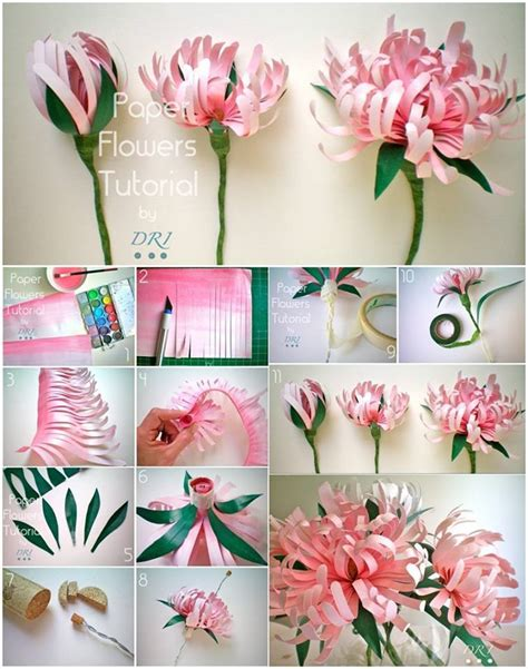 How To Make Paper Mums - how to diy beautiful paper chrysanthemums