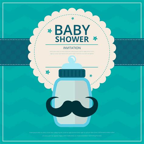 Baby Boy Shower by Baby Boy Shower Free Vector Stock Graphics