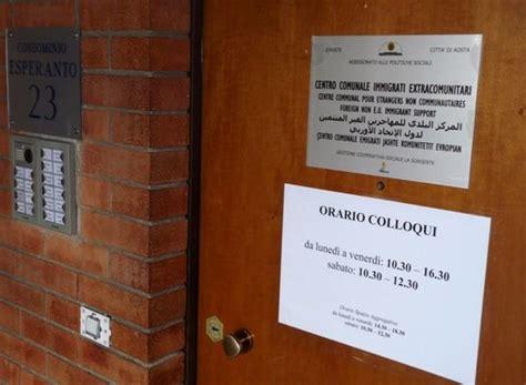 ufficio immigrazione aosta il servizio migranti di aosta non deve chiudere