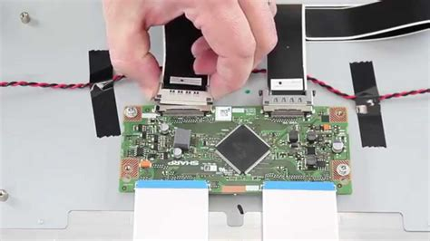 how to replace tcon board in a sony lcd tv in hd 1080p by