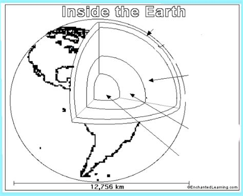 coloring pages of the earth s layers free coloring pages of earths layers