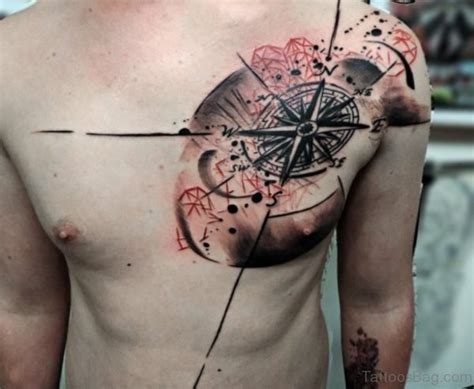 tattoo compass on chest 51 attractive compass tattoo design on chest