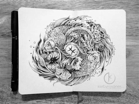 doodle drawing book explosive moleskine doodles by kerby rosanes colossal