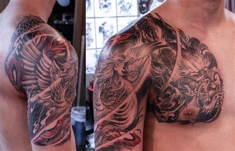 side phoenix tattoo chronic ink 413 best black and grey asian tattoos images on