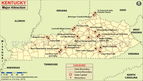 kentucky attractions map places to visit in kentucky map things to do in kentucky