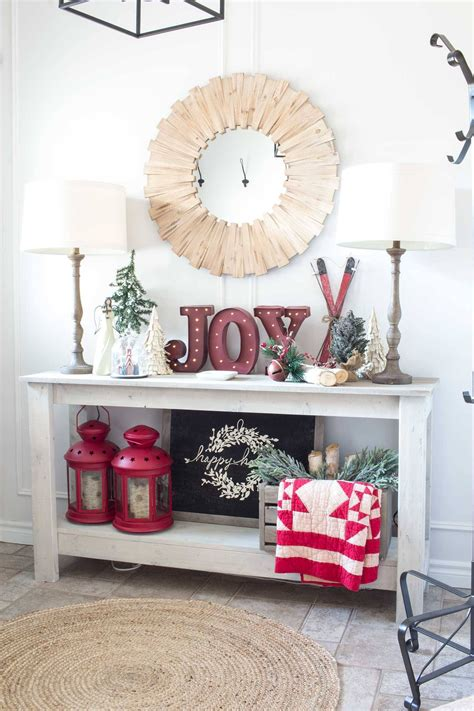 How To Decorate Entryway Table For Christmas