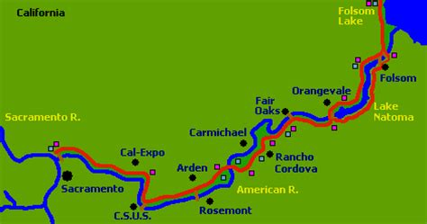 american river california map cities with great recreational rivers for sale
