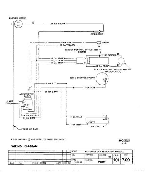 1957 Chevy Fuse Box Diagram
