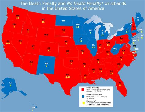 map of us states that the penalty penalty by state the armband protest against the