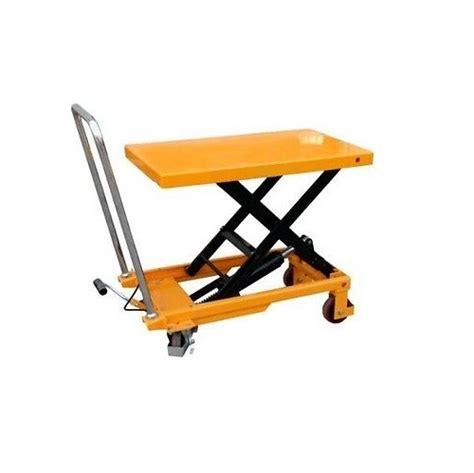 manual scissor lift table 150kg capacity 750mm lift