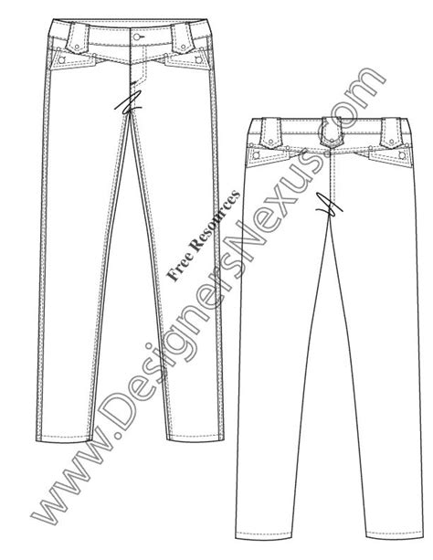 free jeans pattern illustrator 105 best images about free fashion flat sketches on