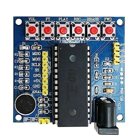 isd1760 voice recording module blue free shipping